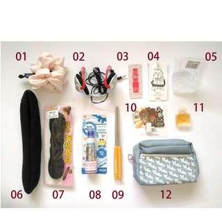 🚚 🎁贈送:香水、耳機、面膜、化妝包、便條紙等