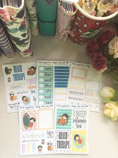 Beach Trip Planner Sticker Kit