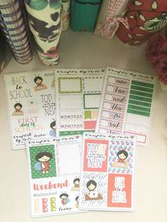 Back to School Planner Sticker kit
