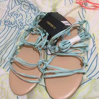 Forever 21 mint gladiator sandals