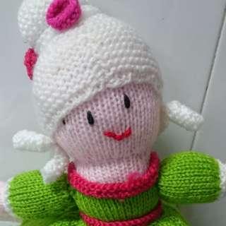 Handmade Cinderella Topsy Turvy Knitted Doll
