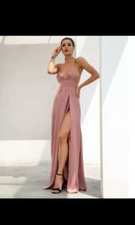 Rose Pink Nude Formal Dress