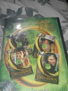 The lord of the rings CD cards