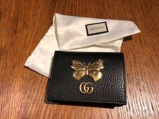 GUCCI 全新SS18蝴蝶卡片夾