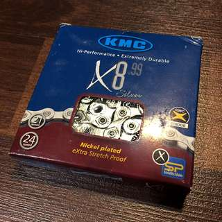KMC X8.99 8 Speed Bicycle Chain Silver