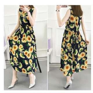 Black Sunflower Dress