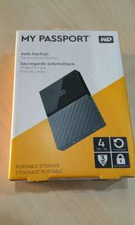 WD 4TB my passport external portable hard drive USB 3.0  External portable hard drive