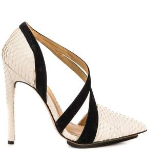 L.a.m.b. White Snakeskin Pumps In Size 9.5 Retail price $345