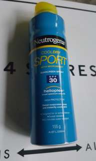 Neutrogena spray on sunscreen SPF 30