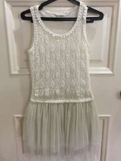 Lace top Tulle Skirt Dress