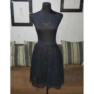 SALE Black Jewelled Tulle Skirt