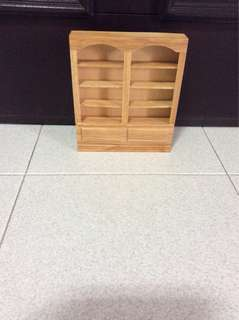 Dollhouse miniature display rack