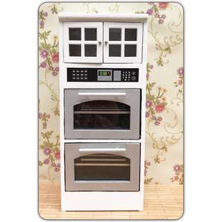 Miniature dollhouse oven & cabinet