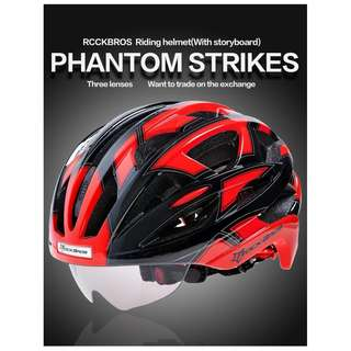 Rockbros Cycling Helmet 51 (Red)