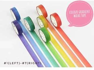 [T]Colour gradient washi tape