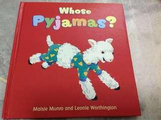 Whose pajamas? (Hardcover book)