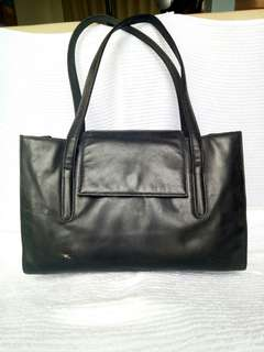 ESPIRIT Leather Black Bag