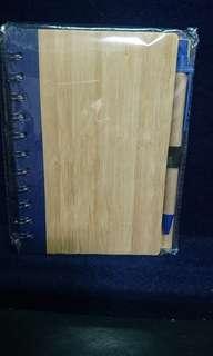 🚚 木製筆記本加原子筆