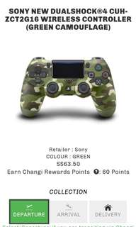SONY™ NEW DUALSHOCK®4 CUH-ZCT2G16 WIRELESS CONTROLLER (Green Camo) for PS4