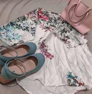 Zara Basic Floral Blouse