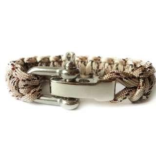 Unisex Bracelets - SCM393 - Silver Army Beige