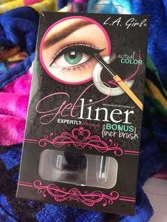 LA Girl Gel Liner Dark Brown + Liner Brush