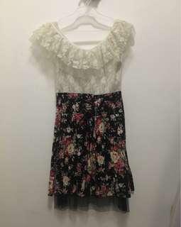 Off-shoulder Floral Dress