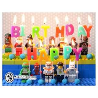 S138484 生日用品 happy birthday 生日快樂英文字母工藝蠟燭 (包郵) candle