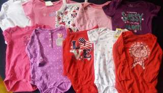 Set A preloved baby girl clothes onesies 12-24 months