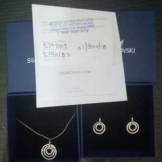 Swarovski Set Necklace  And Earrings