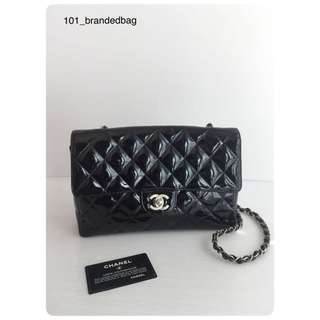 Chanel Patent Matte Hardware Single Chain Flap Bag