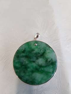 Jade Pendant set with 925 silver