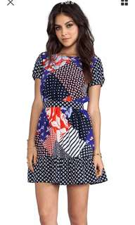 Juicy couture patchwork dress silk