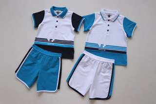 Armani Jeans男童短袖套裝