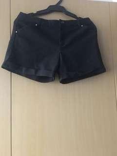 Mango Black Shorts