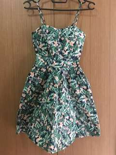 Tropical Bustier Dress