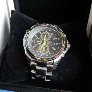 85%New(面交/順豐)Seiko 7T62-0KE0 100M Chronograph Steel Watch防水鋼帶錶citizen casio omega armani