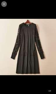 🚚 蕾絲黑修身洋裝