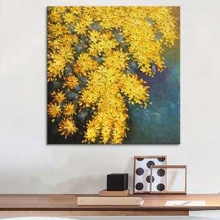 Yellow Chrysanthemum Oil Painting 60cm x 60cm