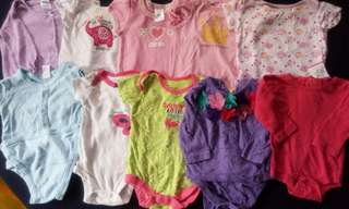 Set B preloved baby girl clothes onesies nb-3 months