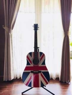 Gitar Legacy england flag