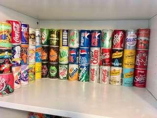 可口可樂迷你版 汽水罐 古董 絕版 Coca Cola 7up Pepsi