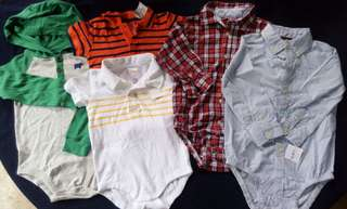 Set of preloved baby boy clothes 12-24 months with FLAW