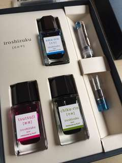 Pilot Iroshizuku Set with Pilot Prera Fountain Pen