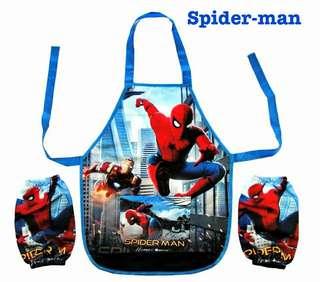 Spiderman kids apron set