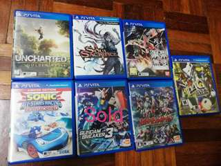 Used ps vita games