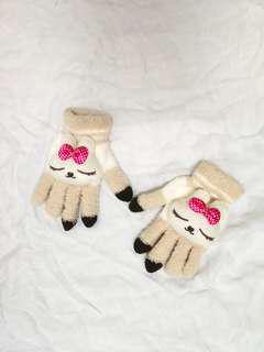 Rabbit winter gloves