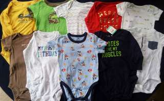 Set A preloved baby boy clothes onesies 12-24 months