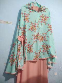 Gamis flower Hijab