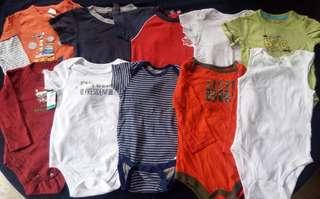 Set B preloved baby boy clothes onesies 12-24 months
